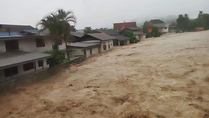 Almost 400 families hit by flash flooding in Luang Prabang